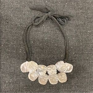 Anthropologie Rustic Statement Necklace with Tie